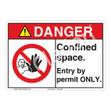 Danger Confined Space Sign (F1143-)