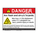 Danger Arc Flash Sign (F1148-)