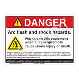 Danger Arc Flash Sign (F1148-)