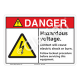Danger Hazardous Voltage Sign (F1150-)