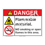 Danger Flammable Sign (F1154-)