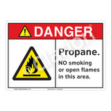 Danger Propane Sign (F1157-)