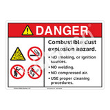 Danger/Combustible Dust Sign (F1161-)