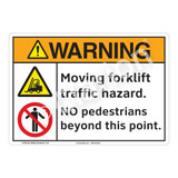 Warning Moving Forklift Sign (F1163-)