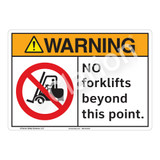 Warning No Forklifts Sign (F1164-)