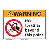 Warning No Forklifts Sign (F1164-)