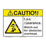 Caution Low Clearance Sign (F1173-)