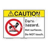 Caution Burn Hazard Sign (F1175-)