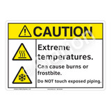 Caution Extreme Temperatures Sign (F1178-)