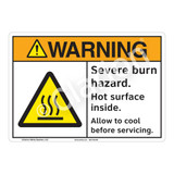 Warning Severe Burn Sign (F1179-)