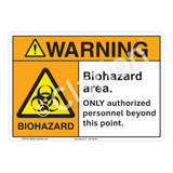 Warning Biohazard Sign (F1180-)