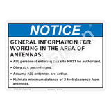 Notice General Information Sign (F1187-)