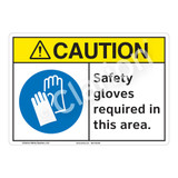 Caution Safety Gloves Sign (F1194-)