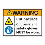 Warning Cut Hazards Sign (F1195-)