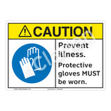 Caution Prevent Illness Sign (F1196-)
