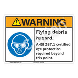 Warning Flying Debris Sign (F1201-)