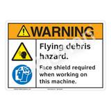 Warning Flying Debris Sign (F1202-)