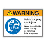 Warning Bale Strapping Sign (F1204-)