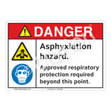 Danger Asphyxiation Sign (F1206-)