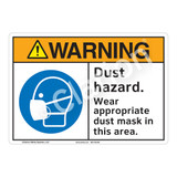 Warning Dust Hazard Sign (F1210-)