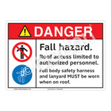 Danger Fall Hazard Sign (F1211-)