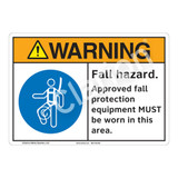 Warning Fall Hazard Sign (F1214-)