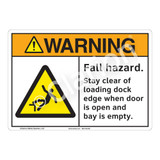 Warning Fall Hazard Sign (F1215-)