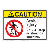 Caution Avoid Injury Sign (F1219-)