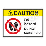 Caution Fall Hazard Sign (F1220-)