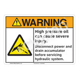 Warning High Pressure Sign (F1222-)