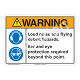 Warning Loud Noise Sign (F1229-)
