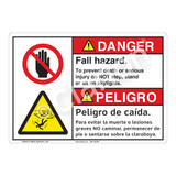 Danger/Fall Hazard Sign (F1231-)