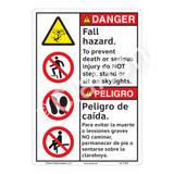 Danger/Fall Hazard Sign (F1232-)