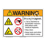 Warning/Strong Magnet Sign (F1233-)