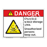 Danger/Chemical Waste Storage Sign (F1238-)