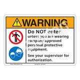 Warning/Do Not Enter Sign (F1239-)