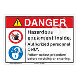 Danger/Hazardous Equipment Sign (F1240-)