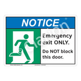 Notice/Emergency Exit Only Sign (F1246-)