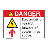 Danger/Electrocution Hazard Sign (F1252-)