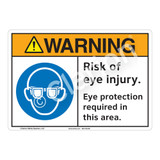 Warning/Risk of Eye Injury Sign (F1256-)