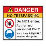 Danger/No Trespassing Sign (F1260-)