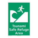 Tsunami Safe Refuge Area Sign (F1291-)