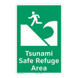 Tsunami Safe Refuge Area Sign (F1292-)