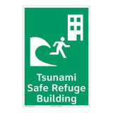 Tsunami Safe Refuge Building Sign (F1293-)