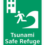 Tsunami Safe Refuge Building Sign (F1294-)