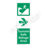 Tsunami Safe Refuge Area Sign (F1295-)