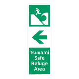 Tsunami Safe Refuge Area Sign (F1296-)