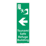 Tsunami Safe Refuge Building Sign (F1298-)