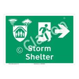 Storm Shelter Sign (F1300-)