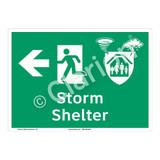 Storm Shelter Sign (F1302-)